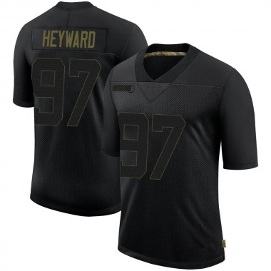 Men's Nike Pittsburgh Steelers Cameron Heyward 2020 Salute To Service Jersey - Black Limited