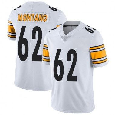 Men's Nike Pittsburgh Steelers Christian Montano Vapor Untouchable Jersey - White Limited