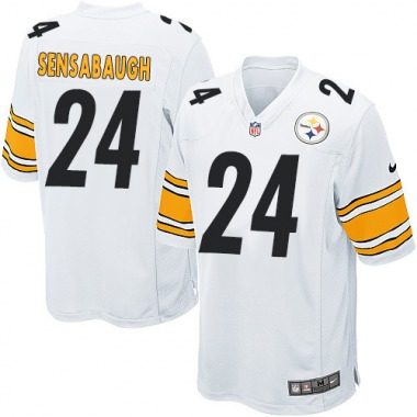 Men's Nike Pittsburgh Steelers Coty Sensabaugh Jersey - White Game