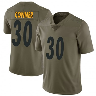 Men's Nike Pittsburgh Steelers James Conner 2017 Salute to Service Jersey - Green Limited