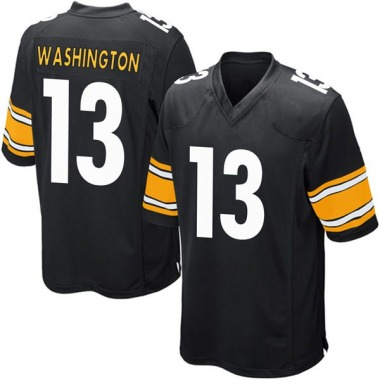 Men's Nike Pittsburgh Steelers James Washington Team Color Jersey - Black Game