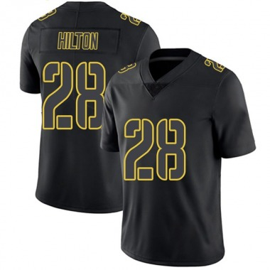 Men's Nike Pittsburgh Steelers Mike Hilton Jersey - Black Impact Limited
