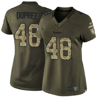 Women's Nike Pittsburgh Steelers Bud Dupree Salute to Service Jersey - Green Limited
