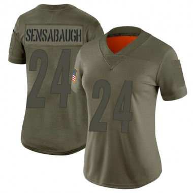Women's Nike Pittsburgh Steelers Coty Sensabaugh 2019 Salute to Service Jersey - Camo Limited