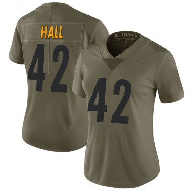 Women's Nike Pittsburgh Steelers Darrin Hall 2017 Salute to Service Jersey - Green Limited