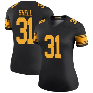 Women's Nike Pittsburgh Steelers Donnie Shell Color Rush Jersey - Black Legend