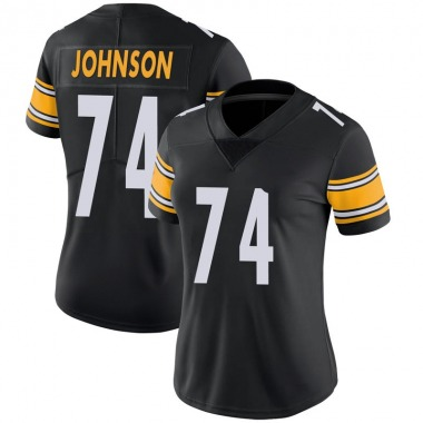 Women's Nike Pittsburgh Steelers Fred Johnson 100th Vapor Jersey - Black Limited