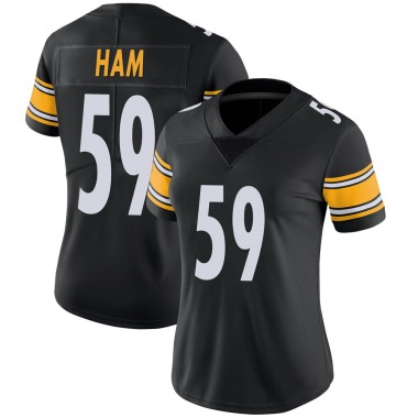 Women's Nike Pittsburgh Steelers Jack Ham 100th Vapor Jersey - Black Limited
