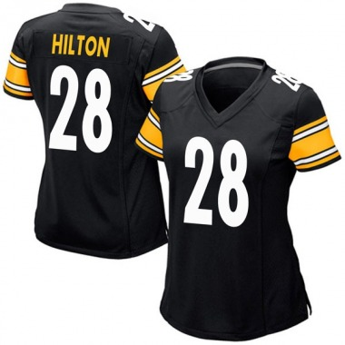 Women's Nike Pittsburgh Steelers Mike Hilton Team Color Jersey - Black Game