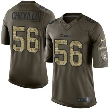 Youth Nike Pittsburgh Steelers Anthony Chickillo Salute to Service Jersey - Green Limited
