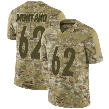 Youth Nike Pittsburgh Steelers Christian Montano 2018 Salute to Service Jersey - Camo Limited
