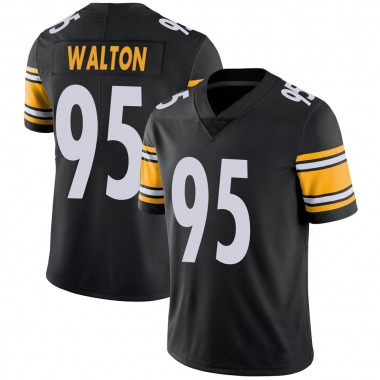 Youth Nike Pittsburgh Steelers L.T. Walton 100th Vapor Jersey - Black Limited